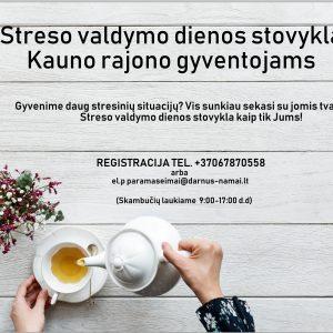 Dienos streso valdymo stovykla suaugusiems asmenims